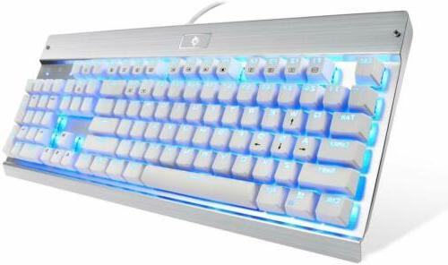 kg011 mechanical keyboard blue switches 104 lighted