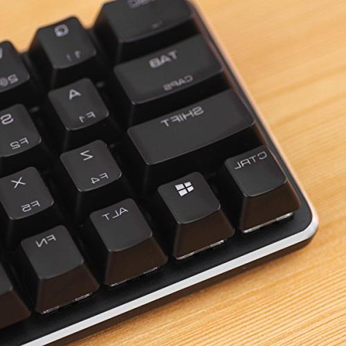 GATERON Red Mechanical Mini Keyboard with Ice Backlit Gaming Magicforce