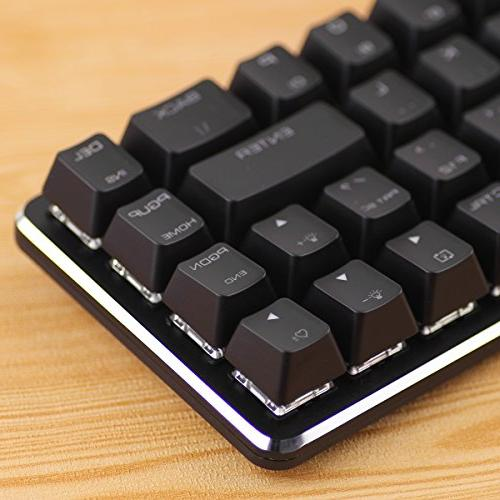 Mechanical Keyboard GATERON Red Switch Wired Mechanical Mini Kyes Keyboard Ice Backlit for Gaming Magicforce