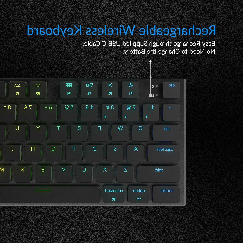 Mechanical Keyboard 104 Key RGB Wireless Mechanical Keyboards Low