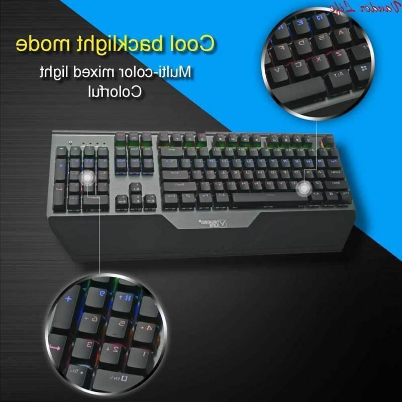 Mechanical Keyboard Pro Waterproof Colorful Lights Reaction Rapid