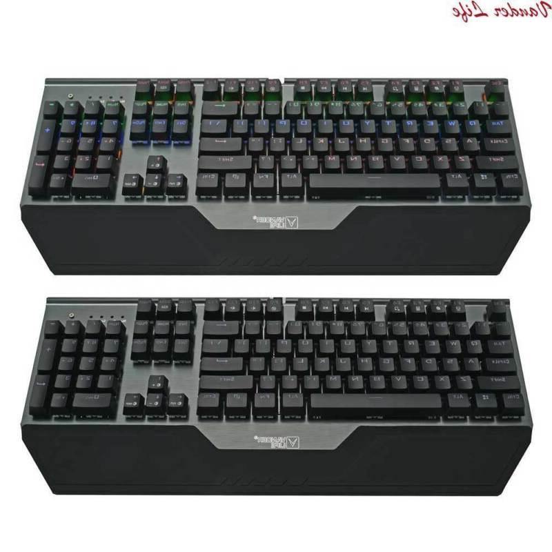 Mechanical Keyboard Waterproof Colorful Lights Rapid