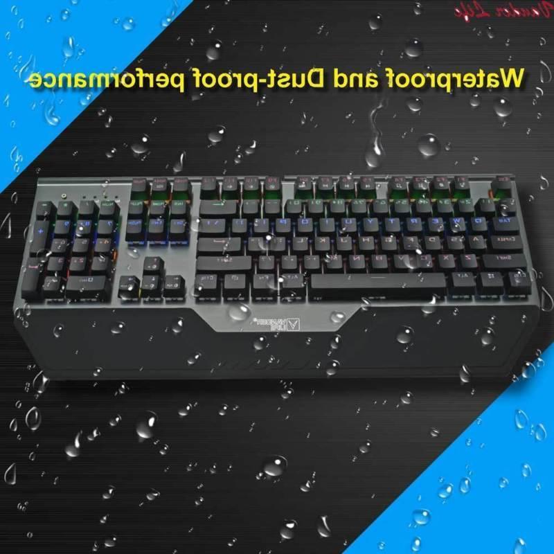 mechanical keyboard pro waterproof colorful lights pc