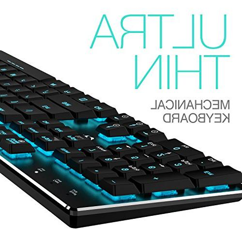 Mechanical HAVIT RGB Backlit Gaming Keyboard Extra-Thin & Light, Latest Profile Switches, 104 Rollover