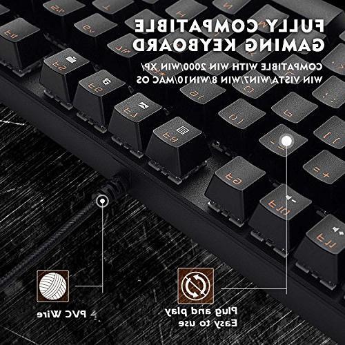 Mechanical EasySMX 87 Tenkeyless Mechanical Keyboard, 29 Switch, Multimedia Keys Gamers/Office