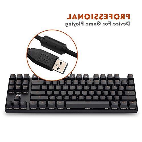 Mechanical 87 Tenkeyless Keyboard, Easy to 29 Key Rollover, Switch, Keys Gamers/Office