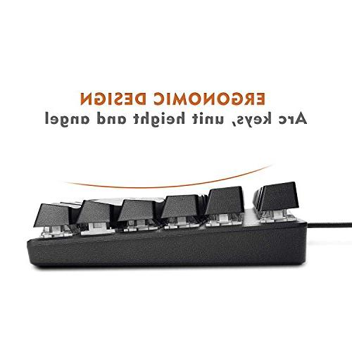Mechanical Keyboard, 87 Key Keyboard, Carry, 29 Key Blue Gamers/Office Workers