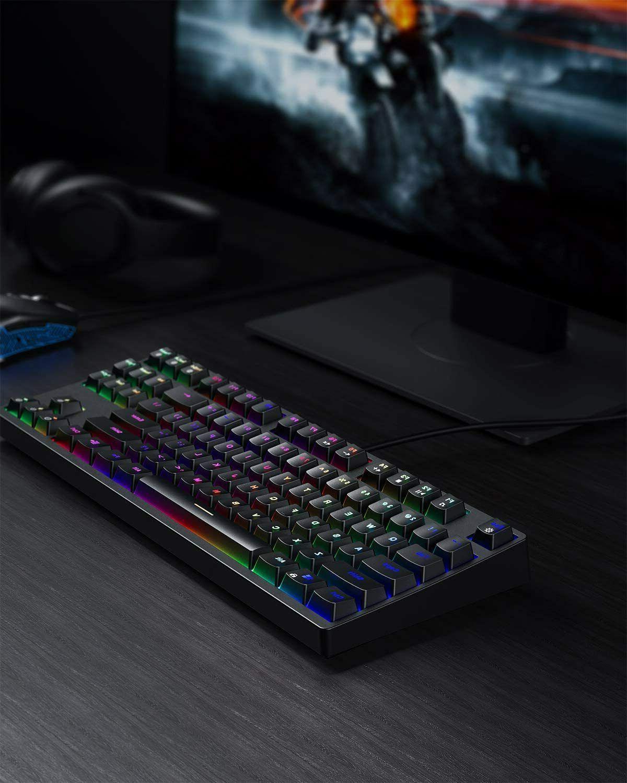 AUKEY Mechanical Keyboard TKL Gaming Keyboard