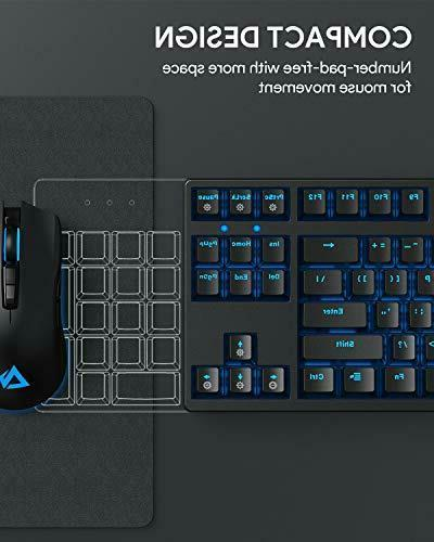 AUKEY Mechanical Gaming RGB Tenkeyless ,