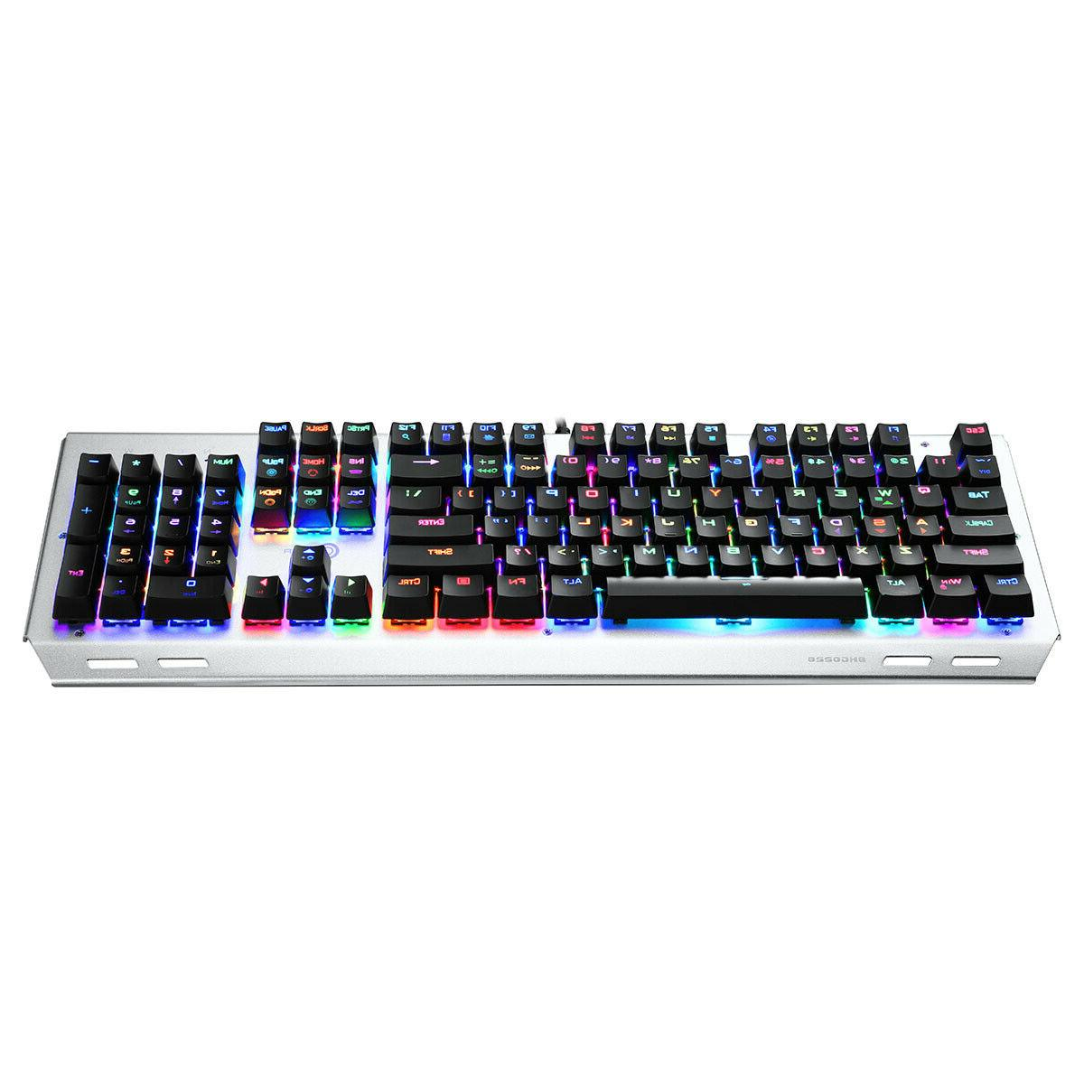 Mechanical Keyboard Wired Backlit Gaming Blue