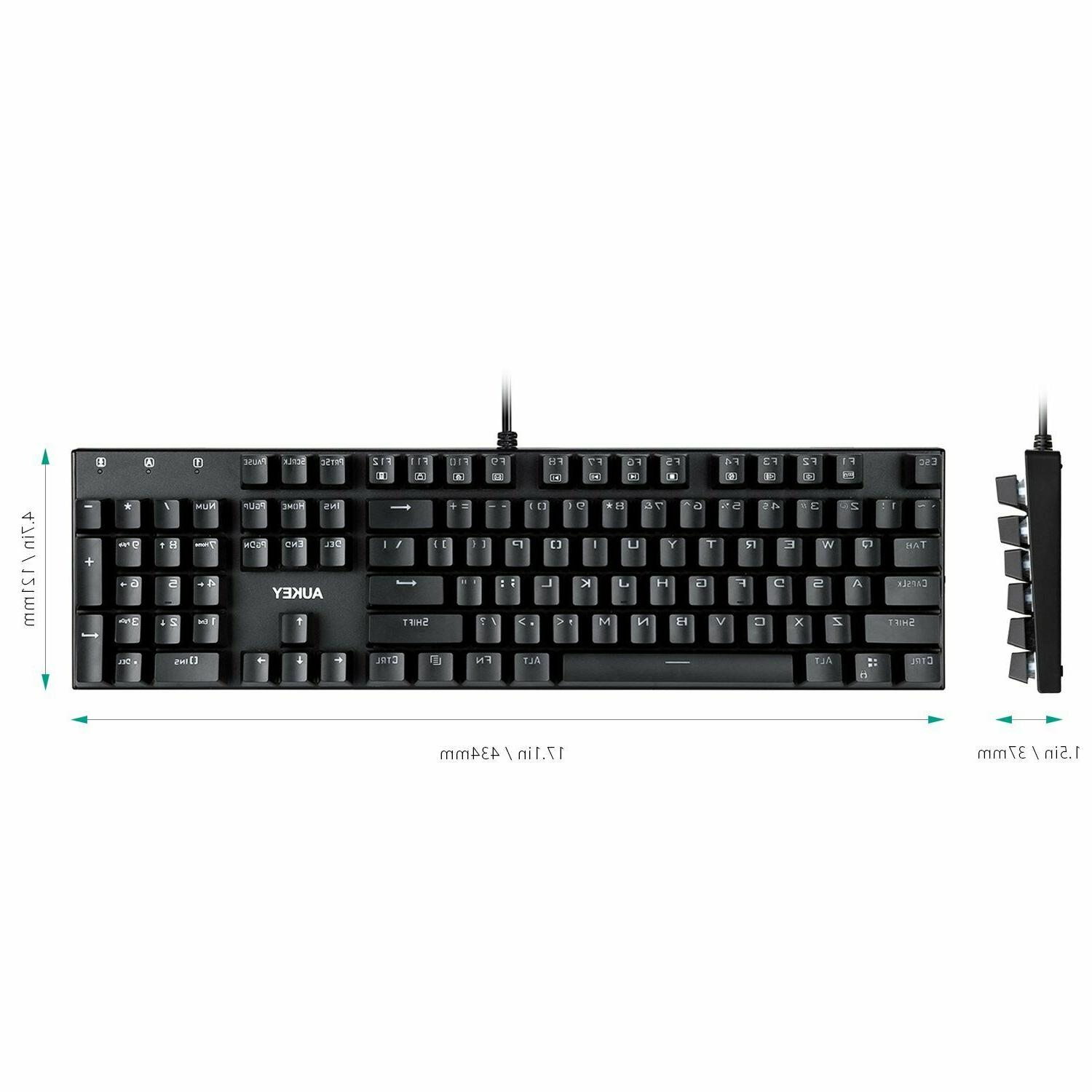 AUKEY Keyboard Wired Gaming