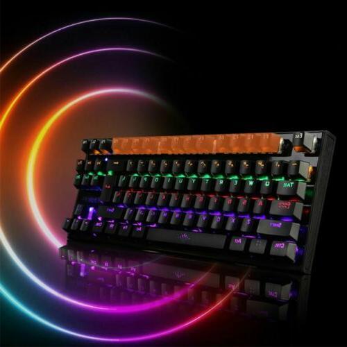 1X Keyboard Wired 87 Keys Anti-Ghosting