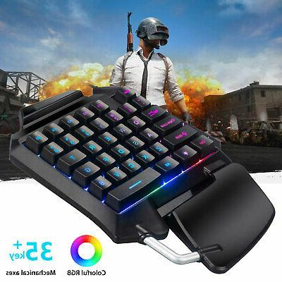 Mechanical Gaming Keypad Keyboard USB Hand W/RGB
