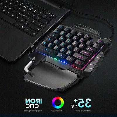 Mechanical Wired Gaming Keypad Hand