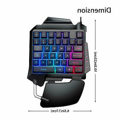 Mechanical Left Gaming Hand Backlight