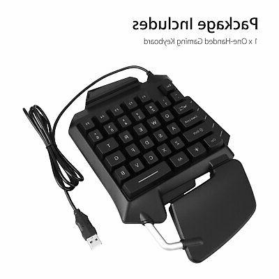 Mechanical One-Handed Wired Gaming Keyboard Hand W/RGB