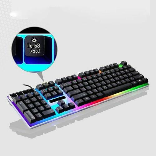 Mechanical Gaming Keyboard Mouse Set for PC Xbox