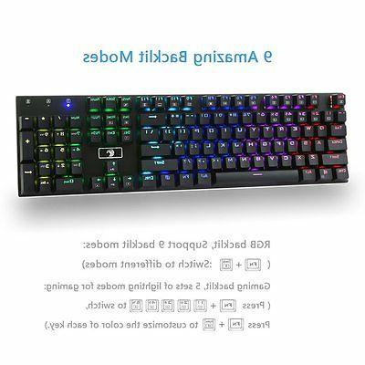 MechanicalEagle Z-88 RGB 104 Keys Keyboard with -