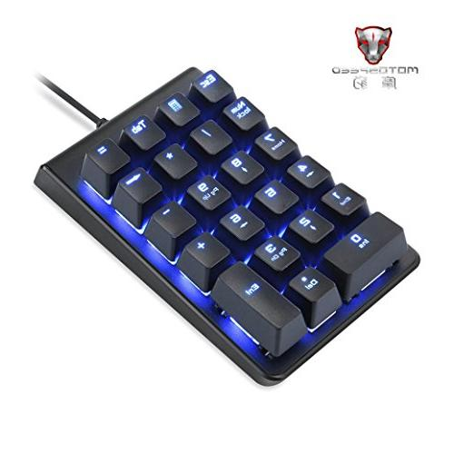 Mini Wired Keypad Keyboard, Multi-Device for Gaming, Office