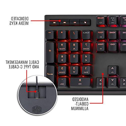Cooler RGB Mechanical Gaming Keyboard, RGB LED, Wrist