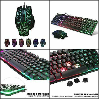 BAKTH Multiple LED Mechanical USB and Mouse for Working