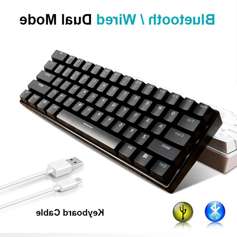 New Keys RK61 Bluetooth LED Backlit <font><b>Keyboard</b></font> Gamer Laptop