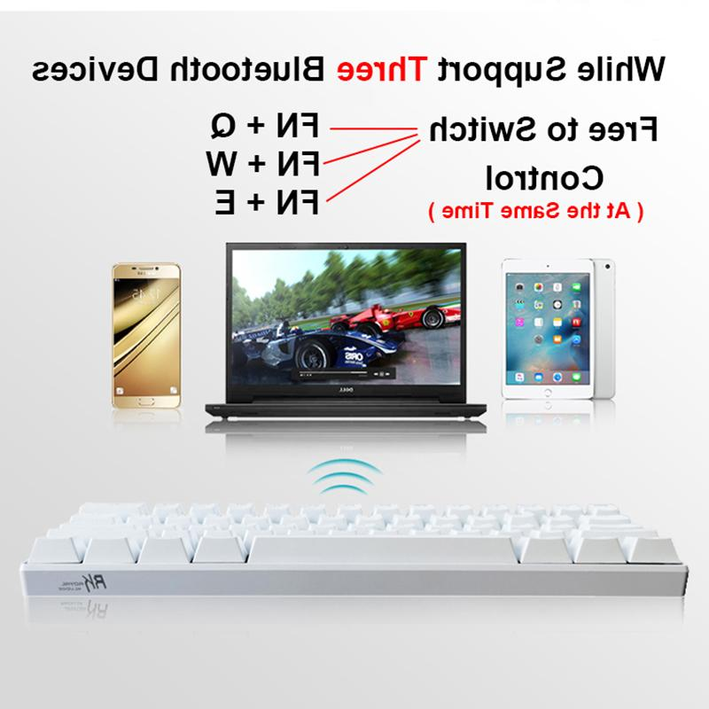 New 61 Keys Bluetooth White LED Backlit Gaming <font><b>Keyboard</b></font> Gamer Laptop Computer