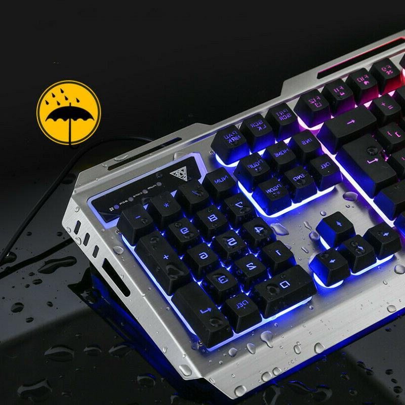 US Cable Mechanical Keyboard+Mouse