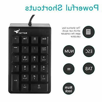 Number Mechanical Wired Numeric Keypad Blue Key