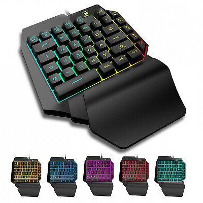 one hand mechanical gaming keyboard half keyboard