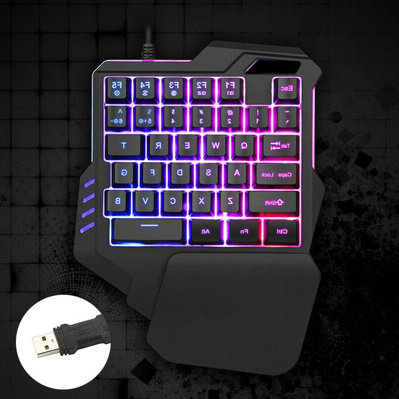 one handed gaming keyboard mechanical ergonomic game