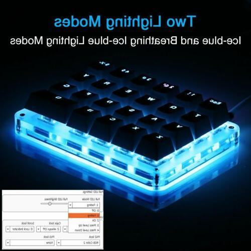 Blue LED Backlit Keyboard​ Keys Mini