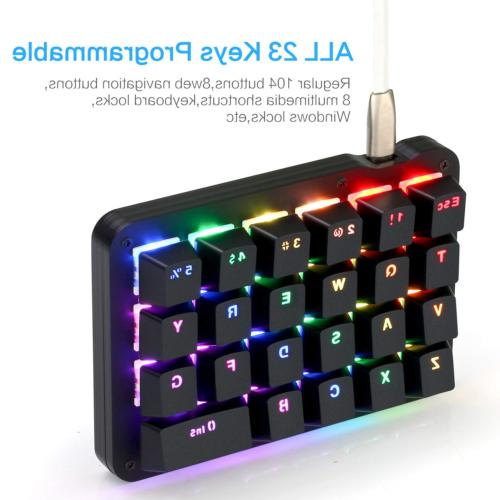 Koolertron One Mechanical Keyboard, Backlit Mini