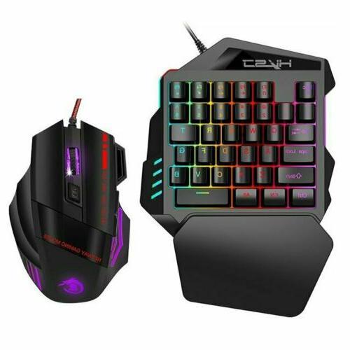 one handed mechanical gaming keyboard backlit keypad