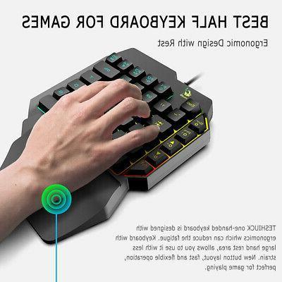 One-Handed Mechanical Keyboard Hand Game LOL/PUBG/ Fortnite