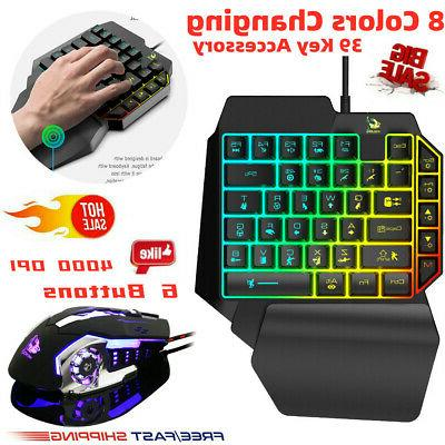 one handed mechanical keyboard left hand game