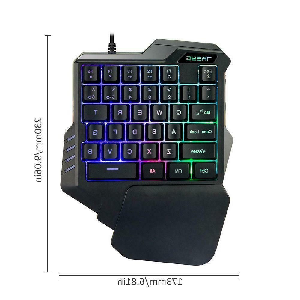 One-Handed Hand Keypad Game LOL/PUBG/