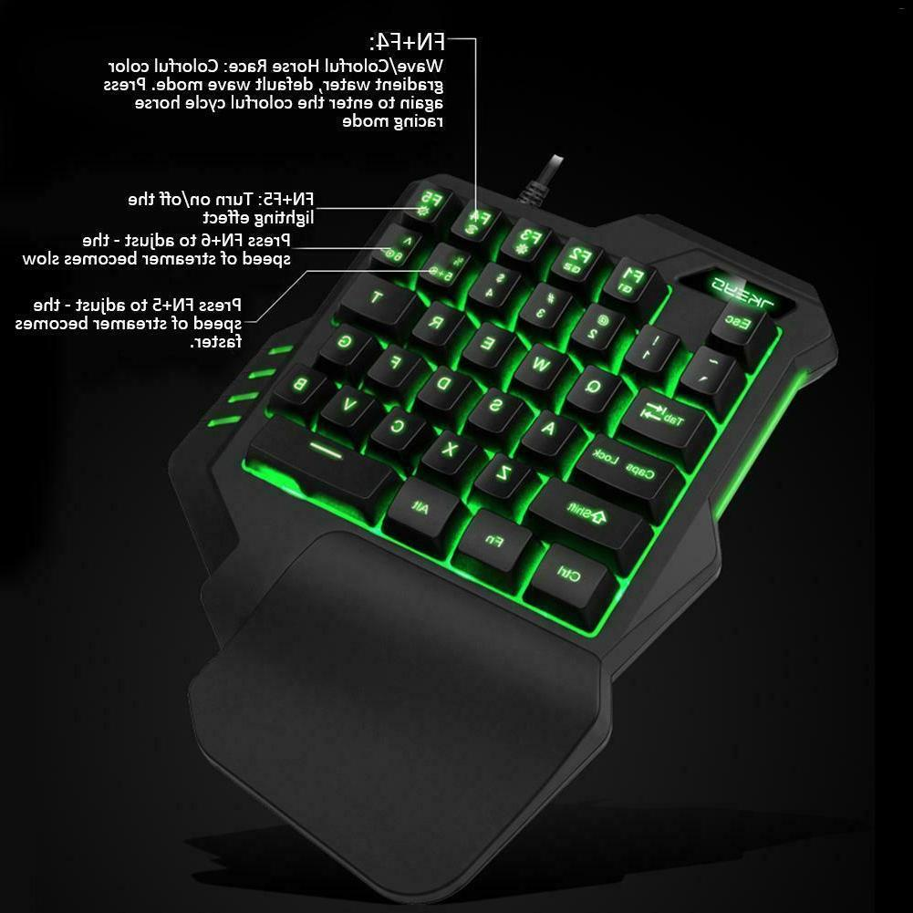 One-Handed Keyboard Hand Game for Game LOL/PUBG/