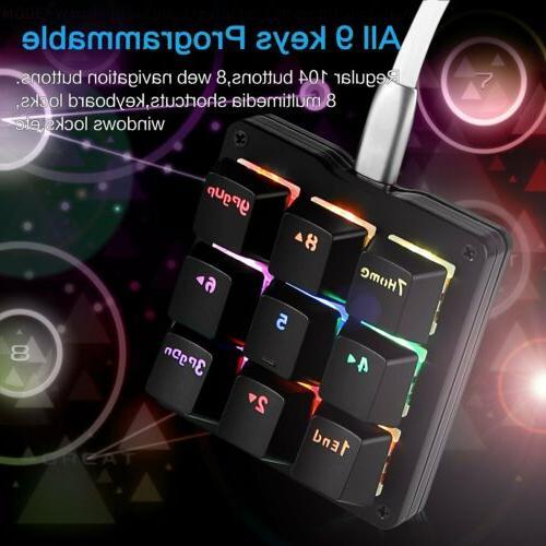 9 Macro Keyboard Keypad RGB LED Switches