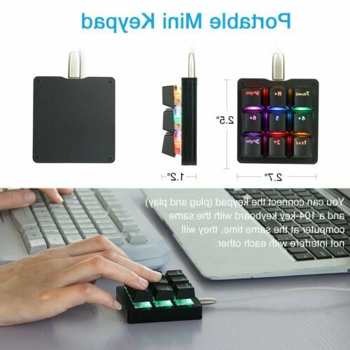 Keyboard Gaming Keypad LED Blue Switches