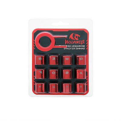 pbt backlit metallic backlight 12 keys keycaps