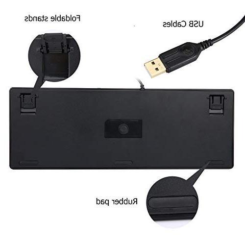 Dareu PBT Keycaps Gaming Keyboard LED Backlit 87-Key PC Laptop Gamers