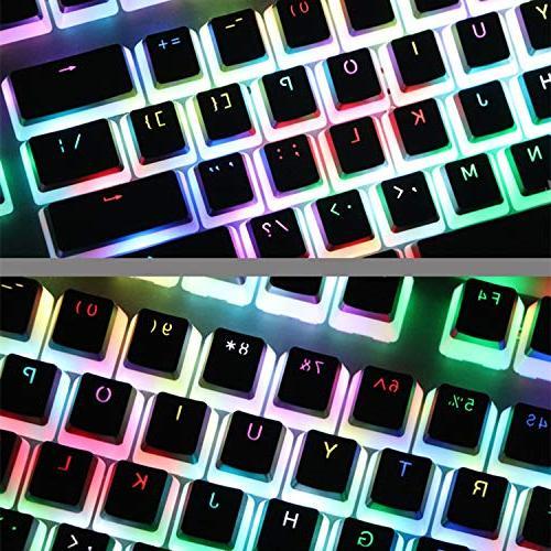 PBT Doubleshot Top MX Caps 110 Keyset Keycaps Puller for MX