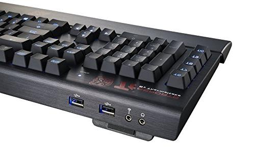 Thermaltake e Poseidon Forged Aluminum Faceplate with Port & Sound Blue Switches Blue Backlight Mechanical