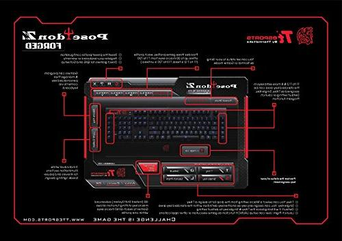 Thermaltake e Poseidon Z Forged Faceplate with Blue Backlight Mechanical Gaming Keyboard
