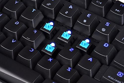 Thermaltake e SPORTS Poseidon Z Blue Switches with 4-Level Brightness LED Mechanical KB-PIZ-KLBLUS-06