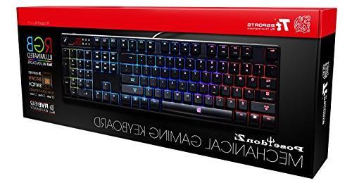 Tt Poseidon RGB Mechanical Gaming with Switches, RGB Years Warranty