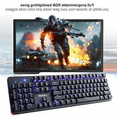 RGB Gaming Blue Led RGB LESHP US