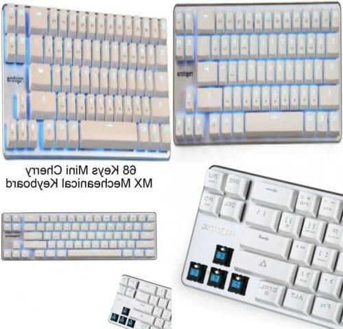 Qisan Pro Gaming Keyboard Mechanical Wired 68 Keys Cherry MX