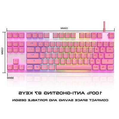 MOTOSPEED Professional Gaming Keyboard RGB Rainbow 87 Keys